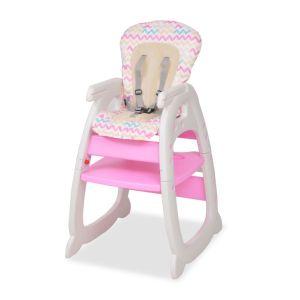 Trys viename sulankstoma vaikiška kėdutė, rožinė