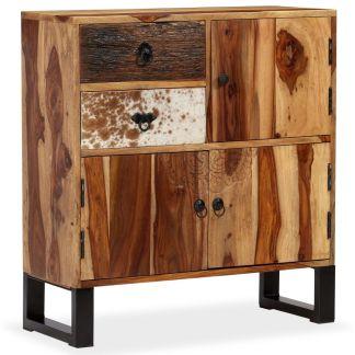 vidaXL Spintelė, masyvi rausvosios dalbergijos mediena, 70x30x80cm