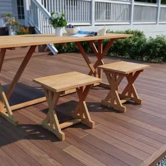vidaXL Sodo pakoja, 42x35x45cm, tikmedžio medienos masyvas