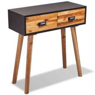 vidaXL Konsolinis staliukas, akacijos medienos masyvas, 70x30x75cm