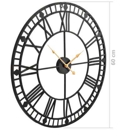 Sieninis laikrodis, vintaž., kvarc. mech., metal., 60cm, XXL