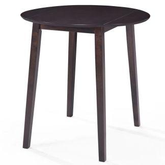 vidaXL Baro stalas, masyvi mediena, 90×91 cm, tamsiai rudas