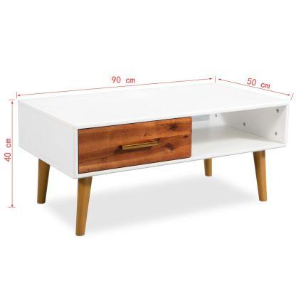 Kavos staliukas, masyvi akacijos mediena, 90x50x40cm