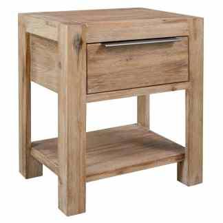 vidaXL Naktinis staliukas su stalčiumi, 40x30x48cm, akacijos med. mas.