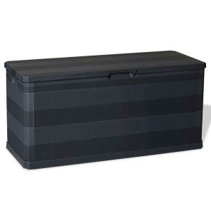 vidaXL Sodo daiktadėžė, juoda, 117x45x56 cm
