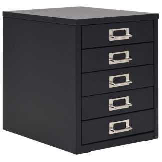vidaXL Dokumentų spinta su 5 stalčiais, metalinė, 28x35x35cm, juoda
