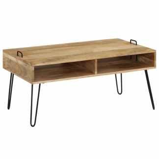 vidaXL Kavos staliukas, mango medienos masyvas, 100x60x45cm