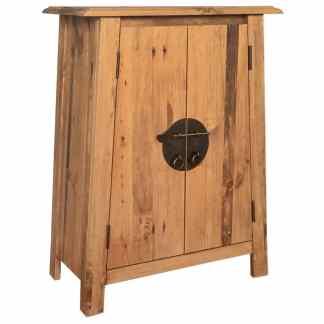 vidaXL Vonios spintelė, masyvi perdirbta pušies mediena, 59x32x80 cm