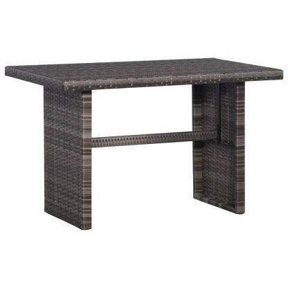 Bistro baldų komplektas su pag., 3d., pilkas, ratanas