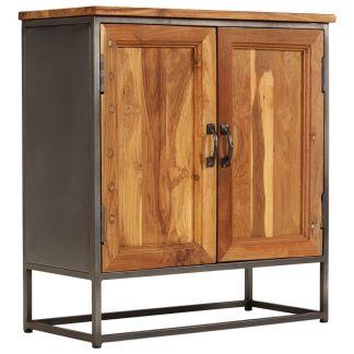 vidaXL Komoda, perdirbta tikmedžio mediena ir plienas, 65x30x70cm
