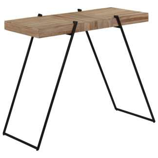 vidaXL Baro stalas, 120x55x107cm, perdirbta tikmedžio mediena