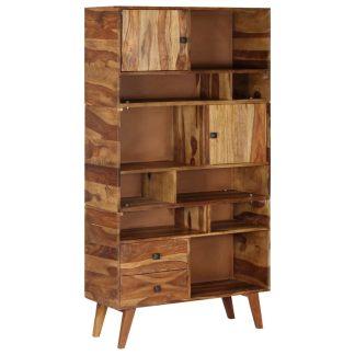 vidaXL Komoda, 90x35x170 cm, rausvosios dalbergijos medienos masyvas