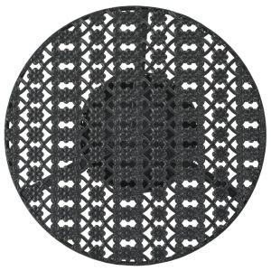 Bistro staliukas, vint. stil., apvalus, metalas, 40x70cm, juod.