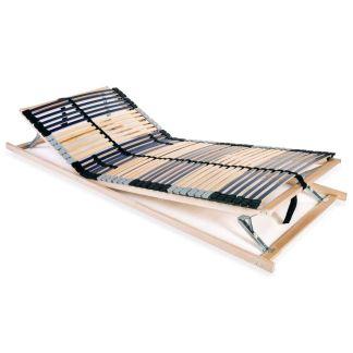vidaXL Grotelės lovai su 42 lentjuostėmis, 7 zonos, 90x200cm, FSC
