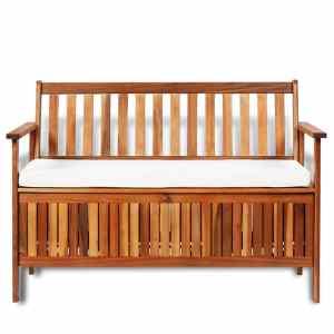 Sodo suoliukas-daiktadėžė, akacijos medienos mas., 120x63x84cm