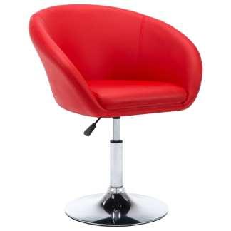 vidaXL Besisuk. valgomojo kėdė, dirbtinė oda, 67,5×58,5x87cm, raudona