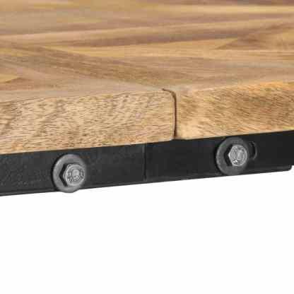 Kavos staliukas, 140x70x45cm, mango medienos masyvas ir ketus