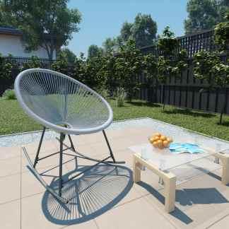 vidaXL Supama sodo kėdė Moon, poliratanas, pilka