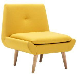 Fotelis, audinio apmušalas, 73x66x77cm, geltonas