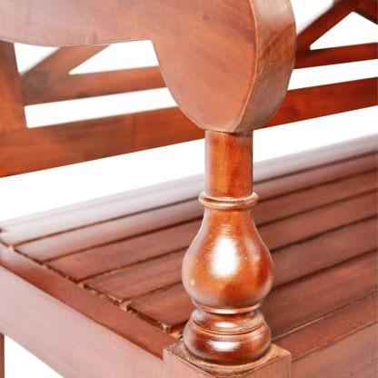 Batavia kėdės, 2 vnt., raudonmedžio masyvas, tamsiai rudos sp.
