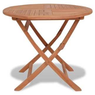 vidaXL Sul. lauko valgomojo stalas, 85x76cm, tik. med. mas., apvalus