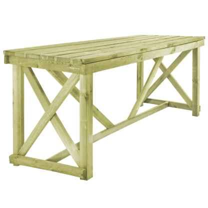 vidaXL Lauko valgomojo stalas, 160x79x75 cm, FSC mediena