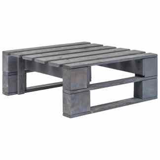 vidaXL Sodo otomanė iš palečių, pilka FSC mediena