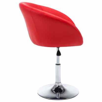 Besisuk. valg. kėdės, 2vnt., dirbt. oda, 67,5×58,5x87cm, raud.