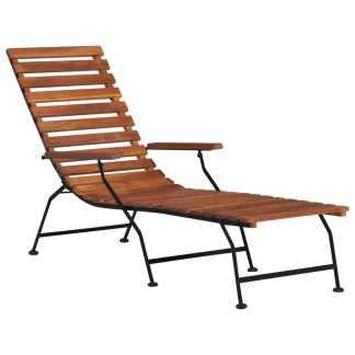 vidaXL Lauko terasos kėdė, akacijos medienos masyvas