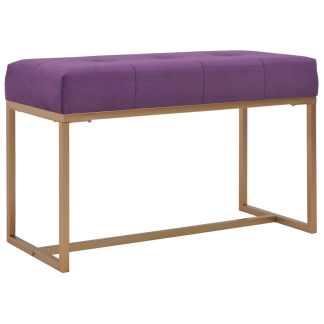 vidaXL Suoliukas, 80cm, violetinis, aksomas