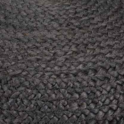 Pufas, tamsiai pilkos sp., 45x30cm, džiutas, rankų darbo