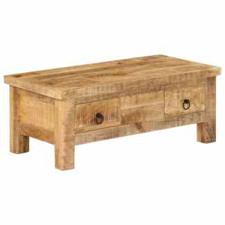 vidaXL Kavos staliukas, 90x45x35 cm, mango medienos masyvas