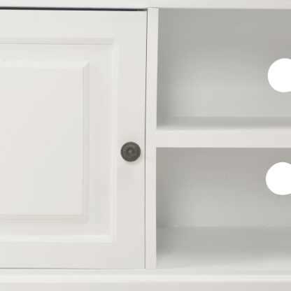 TV spintelė, balta, 90x30x40cm, mediena