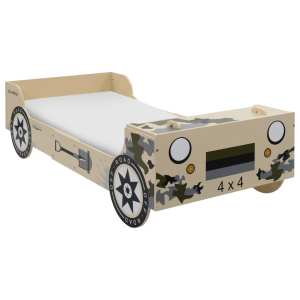 vidaXL Vaikiška lova-visureigis, 90×200 cm, kamufliažinė