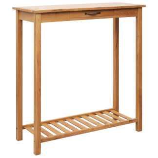 vidaXL Baro stalas, 100x40x110cm, ąžuolo medienos masyvas
