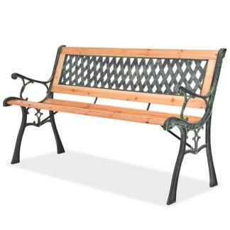 vidaXL Sodo suoliukas, 122 cm, mediena