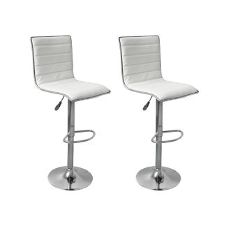 vidaXL Baro kėdės, 2 vnt., baltos