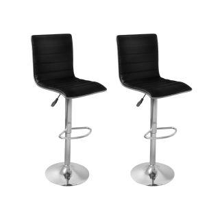 vidaXL Baro kėdės, 2 vnt., juodos