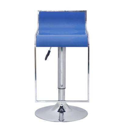 2 Mėlynų Baro Kėdžių su Žema Atrama Nugarai Komplektas, ABS Plastikas
