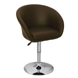 vidaXL Baro kėdė, ruda, 63,5x55x75-91 cm