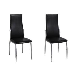 vidaXL Valgomojo kėdės, 2 vnt., dirbtinė oda, juodos