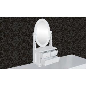 Kosmetinis staliukas su ovalios formos besisuk. veidrodžiu, MDF