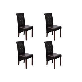 Valgomojo kėdės, 4 vnt., rudos