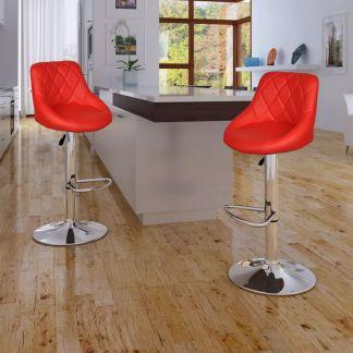 vidaXL Baro kėdės, 2 vnt., raudonos