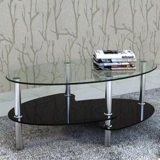 vidaXL Kavos staliukas su išskirtiniu dizainu, juodas