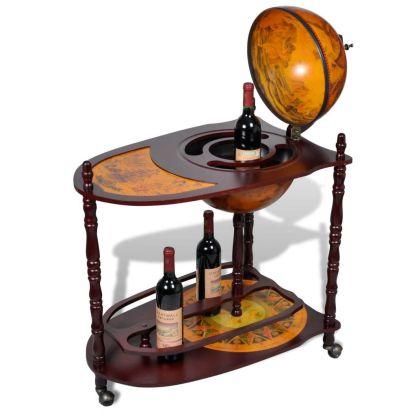 Gaublio formos vyno butelių laikiklis, medinis, pastatomas