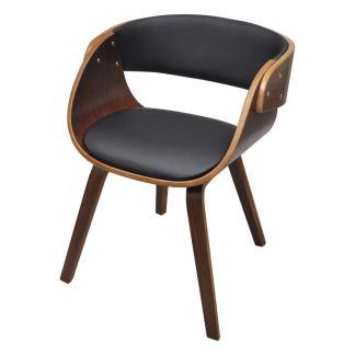 vidaXL Valgomojo kėdė su mediniu rėmu, ruda