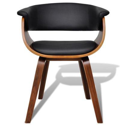 Valgomojo kėdė, medinis rėmas, dirbtinė oda