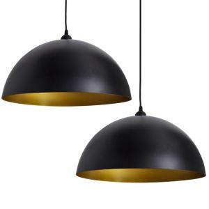 Lub. šviestuvai, 2vnt., regul. aukščio, pusiau sferinis., juod.
