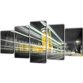 """Fotopaveikslas """"Londono Didysis Benas"""" ant Drobės 100 x 50 cm"""